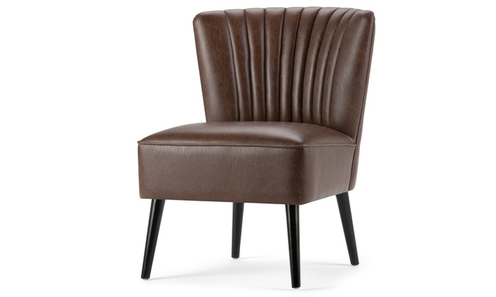 Awe Inspiring Closeout Hollyford Air Leather Accent Chair In Distressed Brown Onthecornerstone Fun Painted Chair Ideas Images Onthecornerstoneorg