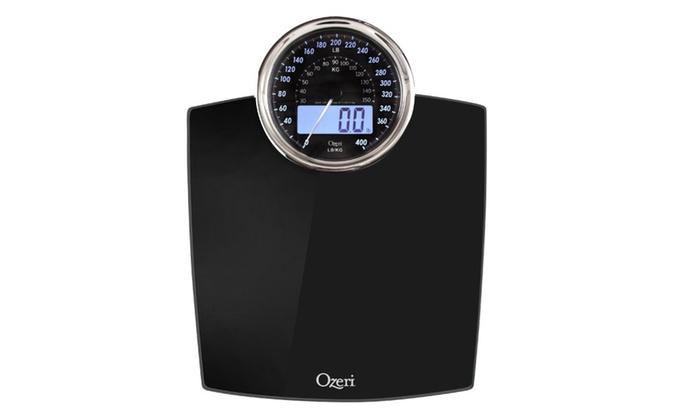 Ozeri ZB19 Rev Digital Bathroom Scale with Electro-Mechanical Weight