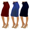Women's High Waist Shaping Stretch Pencil Skirt KV-08