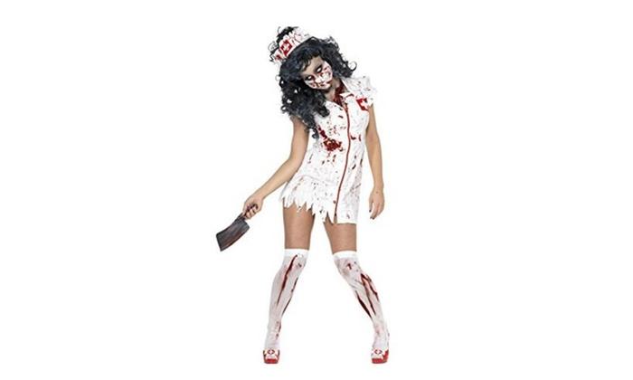 Halloween Cuture Cosplay costume-Zombie 1st Bloody Nurse