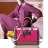 MMK collection Luxury winter Patent Structured Satchel Handbags (7370)