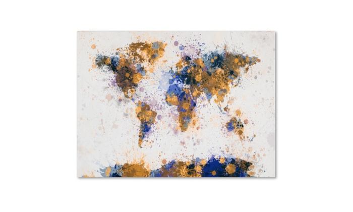 Michael tompsett paint splashes world map 2 canvas art groupon art michael tompsett paint splashes world map 2 canvas gumiabroncs Images