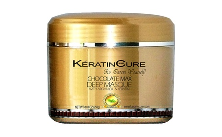 Keratin Cure Deep Hair Reparation Masque Chocolate Max with 250g/8oz 4e62faea-9d9e-4603-8751-e2e8578b2087