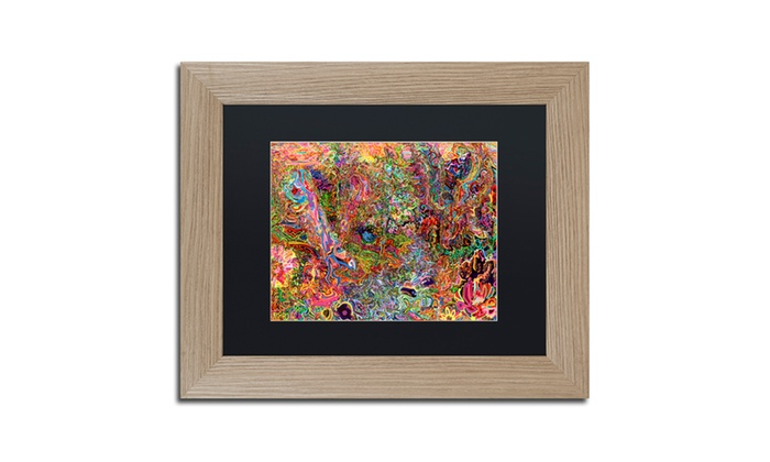 Josh Byer 'The Dove And The Crow' Matted Birch Framed Art