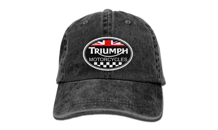 289035686 Triumph Logo Black Baseball Cap Hats Black