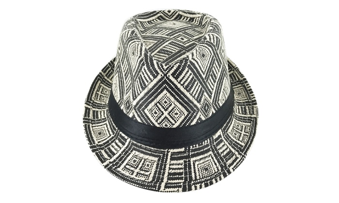 e76338d8103 Faddism Traditional Cuban Style Short Brim Fedora Straw Hat