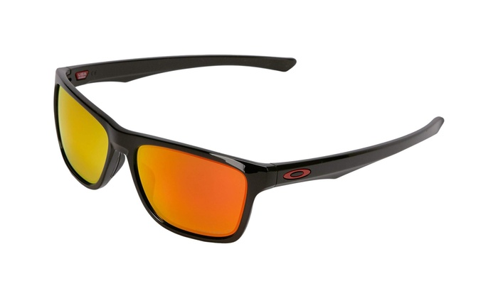 ef3cd31f0a Oakley Holston OO9334-12 Sunglasses Polished Black Prizm Ruby Polarized Lens