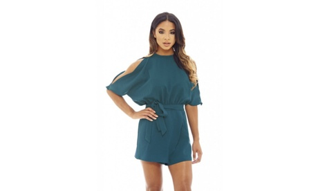 AX Paris Women's Split Sleeve Romper 5714a587-aa26-4825-948e-313ea76c32a9