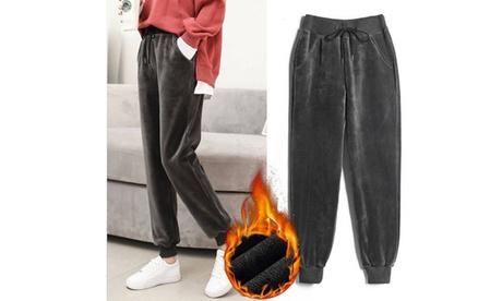Women Winter Fleece Pants Bottoms Pants Warm Thick Active Running