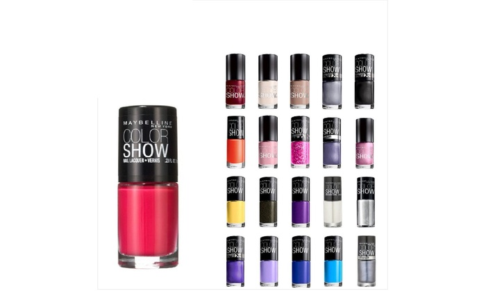 10 Pack Maybelline Color Show Nail Polish | Groupon