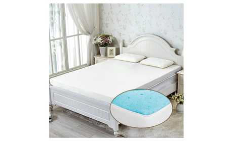 image for vidagoods 4 inch cool gel memory foam mattress topper pad with cover