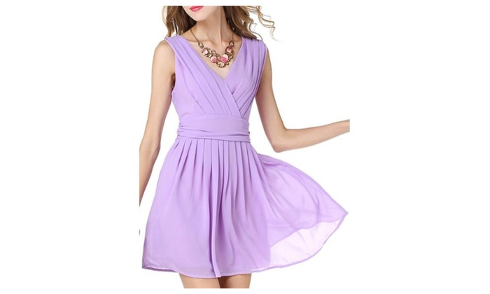 Women's Solid Casual Simple Empire Waist Dresses
