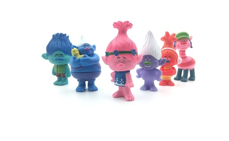 Set of 6, 3-Inch-Tall DreamWorks Movie Trolls Action Figures 42e6c52f-97e0-4e52-97e4-656c1ec2000c