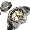 Weil And Harburg Leade Mens Watch Black/Silver/Silver/White/Yellow