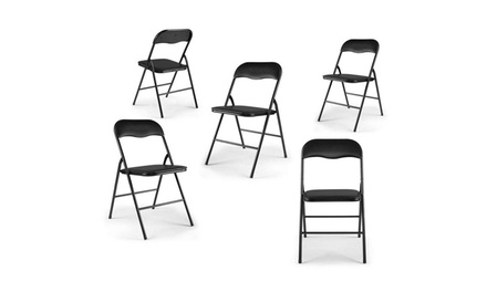 5pcs 440lbs Plastic Office Commercial Event Wedding Folding Chair 2 Colors Was: $130 Now: $56.99.