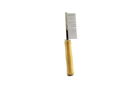 Tool Hair Comb Wood Wooden Handle Pet Dog Cat Rabbit Grooming 0905a20c-2da0-4b9e-9fbe-e2532c1832a4