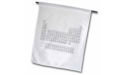 Garden Flag Periodic Table of Elements, Black and White - 12 by 18-inches