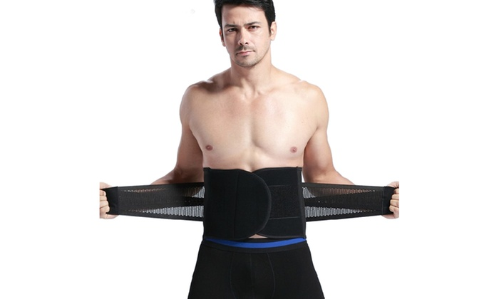 89a039a718 Men s Waist Trainer Girdle Slimming Cincher Workout Bodyshaper Belt ...