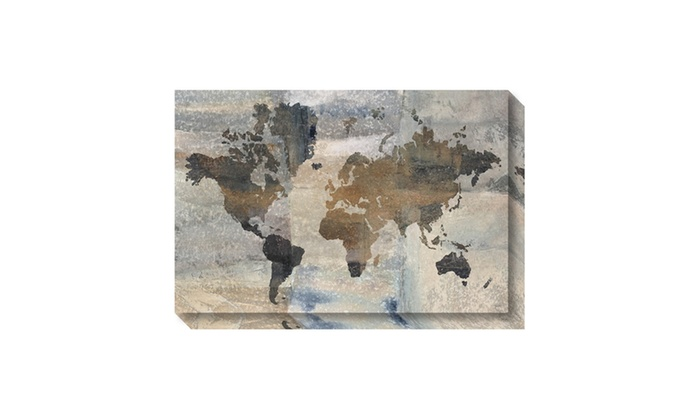 Up to 15 off on canvas art gallery wrap ston groupon goods canvas art gallery wrap stone world map by avery tillmon outer gumiabroncs Images