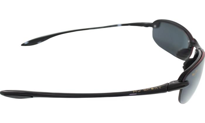 1af98da11d302 Maui Jim Men s Makaha 405-02 Black Semi-Rimless Sunglasses