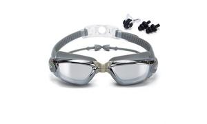 Anti-Fog Swim Goggles with Earplugs