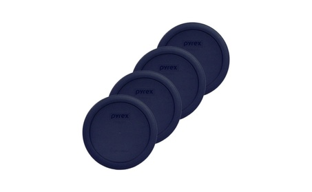 Pyrex 4 Cup Round Plastic Cover 4-Pack, Blue a8c3cc4c-def1-4a37-b0ee-be6a0b81f833