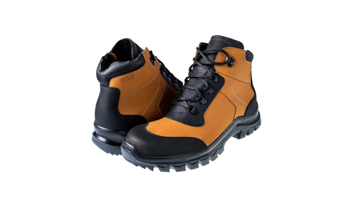f19462c7d Men's Winter Boots Leather And Fur Waterproof Snow Shoes Non-Slip OC ...