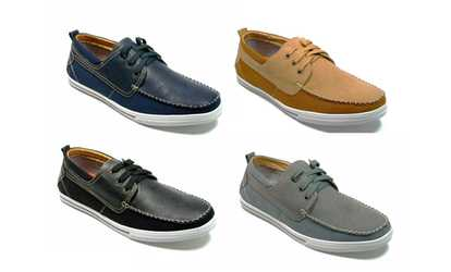 image placeholder image for Men's Casual Lace Up Classic Boat Shoes 30181