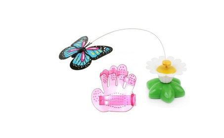Electric Butterfly Cat Toys With Cat Grooming Brush 6a64651a-4ebf-4402-b289-aa47283e4a57