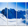 Blue Winter Mountains - Photography Metal Wall Art