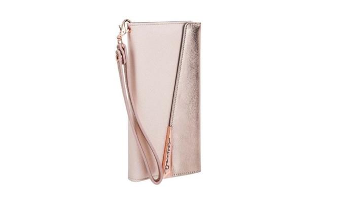 info for e59fe d1cc0 Apple iPhone 7 Plus Rebecca Minkoff Folio Wristlet Rose Gold Leather