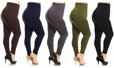 Women's Plus Size 2 Pack French Terry High Waist Slimming Leggings a0909f1b-9f43-4407-b7f5-c04430837917