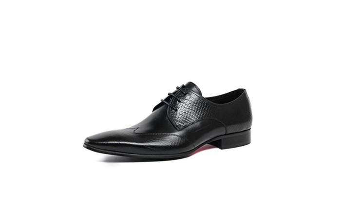 Men's Oxfords Genuine Leather Pointed Toe Wedding Formal Dress Shoes