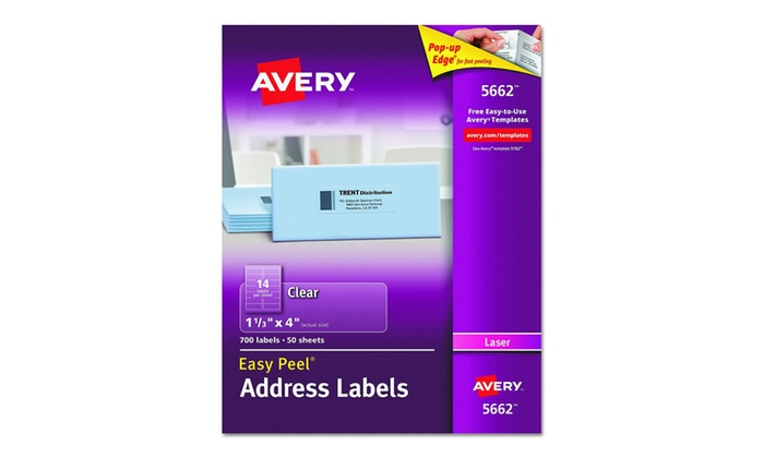 Avery Consumer Products Ave5662 Laser Labels Mailing Groupon