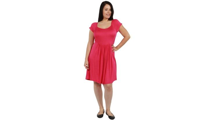 24 7 Comfort Apparel Lillian Plus Size Dress Groupon