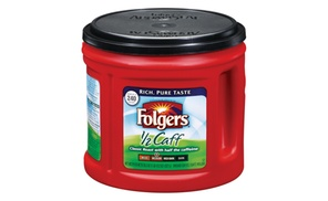 Folgers Half Caff Coffee, 29.2 Ounce each (Pack of 6)