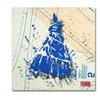 Roderick Stevens Shoulder Dress Blue n White Canvas Print