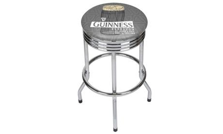 Guinness Chrome Ribbed Bar Stool - Line Art Pint b38f6409-7734-46c8-8af1-55807cf1b820