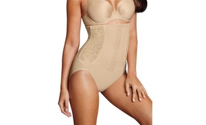 5667d4d06f Maidenform 90563829422 Firm Foundations Waist Nipping Brief Latte Lift Combo