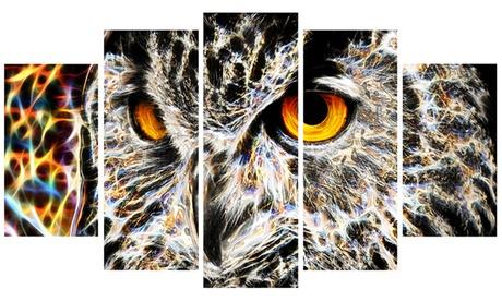 A Real Hoot Owl Metal Wall Art 60x32 5 Panels 2f645deb-8172-4841-a0ea-52b44f9ccb79