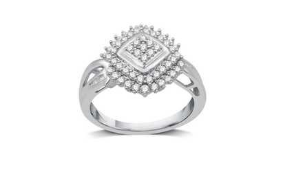 Decarat Women S   Cttw Diamond Three Stone Ring