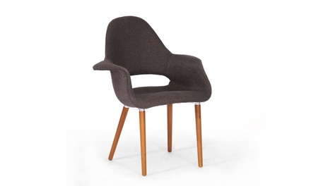 Closeout: Forza Dark Brown Mid-Century Style Accent Chair (Set of 2)