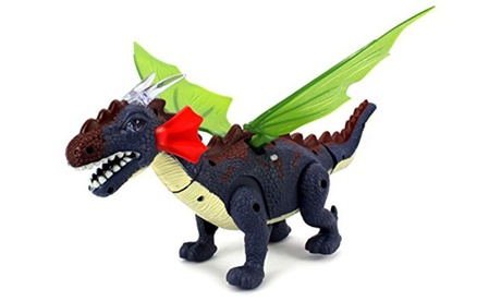 Dino Valley Winged Dragon Battery Operated Walking Toy Dinosaur Figure 68847fcc-7993-42ce-9151-f6049983c59b