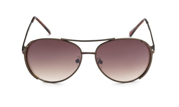 Eason Fashion Women's Metal Aviator Sunglasses Retor Style