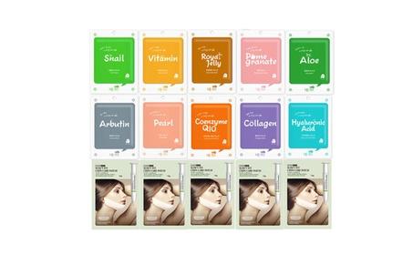Collagen Essence Korean Mask Sheet + V-line Chin Tightening Care