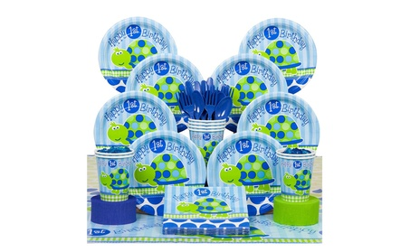 Boys 1st Birthday Turtle Themed Party Supplies for 8 Guests 4bacf313-3493-4351-a25c-63741d127bc1