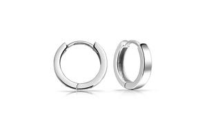 Bling Jewelry Mens Mini Sterling Silver Huggie Hoop Earrings