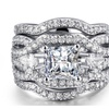 Marquise Shape Cubic Zirconia 3 Ring's Sets for Women's