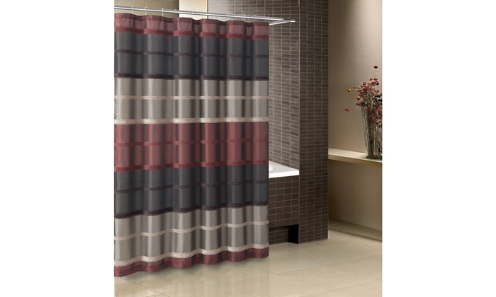 Bombay Chenille Stripe Shower Curtain