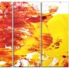 Textured Red and Yellow Art - Abstract Metal Wall Art
